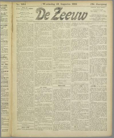 De Zeeuw. Christelijk-historisch nieuwsblad voor Zeeland 1919-08-13
