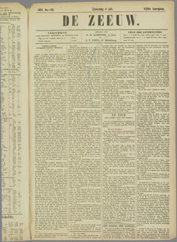 De Zeeuw. Christelijk-historisch nieuwsblad voor Zeeland 1891-07-04