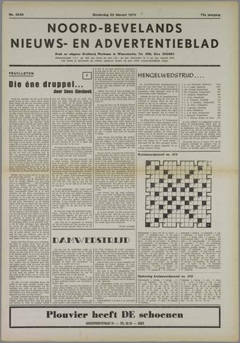 Noord-Bevelands Nieuws- en advertentieblad 1973-02-22