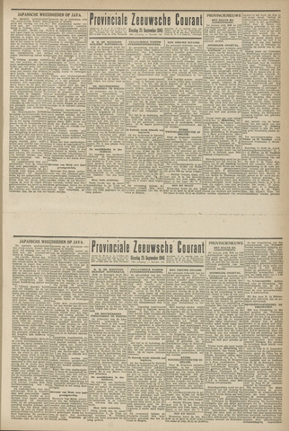 Provinciale Zeeuwse Courant 1945-09-25