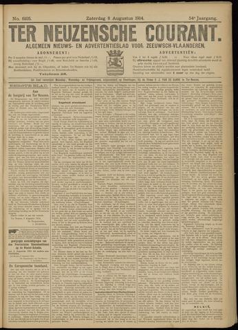 Ter Neuzensche Courant. Algemeen Nieuws- en Advertentieblad voor Zeeuwsch-Vlaanderen / Neuzensche Courant ... (idem) / (Algemeen) nieuws en advertentieblad voor Zeeuwsch-Vlaanderen 1914-08-08