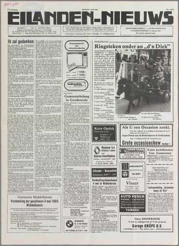 Eilanden-nieuws. Christelijk streekblad op gereformeerde grondslag 1985-05-03