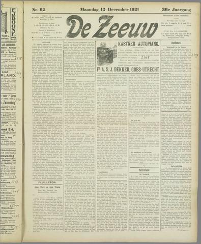 De Zeeuw. Christelijk-historisch nieuwsblad voor Zeeland 1921-12-12