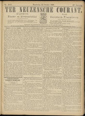 Ter Neuzensche Courant. Algemeen Nieuws- en Advertentieblad voor Zeeuwsch-Vlaanderen / Neuzensche Courant ... (idem) / (Algemeen) nieuws en advertentieblad voor Zeeuwsch-Vlaanderen 1901-10-24