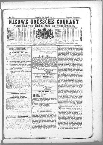 Nieuwe Goessche Courant 1874-04-14