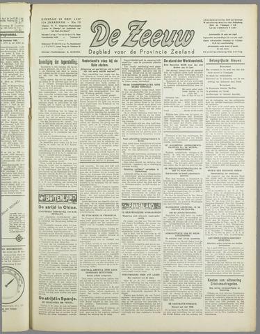 De Zeeuw. Christelijk-historisch nieuwsblad voor Zeeland 1937-12-28