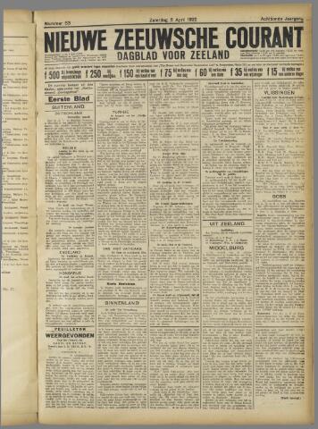 Nieuwe Zeeuwsche Courant 1922-04-08