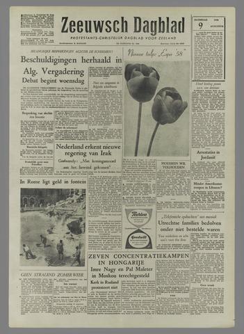 Zeeuwsch Dagblad 1958-08-09