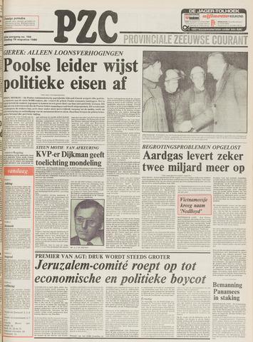 Provinciale Zeeuwse Courant 1980-08-19