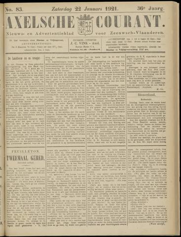 Axelsche Courant 1921-01-22