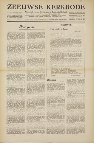 Zeeuwsche kerkbode, weekblad gewijd aan de belangen der gereformeerde kerken/ Zeeuwsch kerkblad 1955-10-21