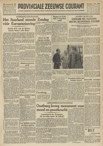Provinciale Zeeuwse Courant 1952-12-01