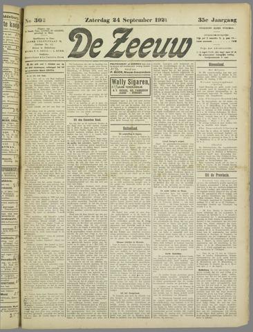 De Zeeuw. Christelijk-historisch nieuwsblad voor Zeeland 1921-09-24
