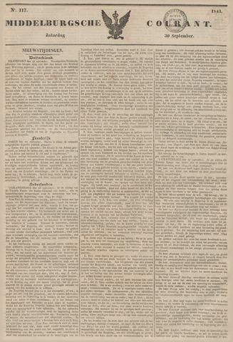 Middelburgsche Courant 1843-09-30