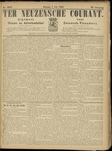 Ter Neuzensche Courant. Algemeen Nieuws- en Advertentieblad voor Zeeuwsch-Vlaanderen / Neuzensche Courant ... (idem) / (Algemeen) nieuws en advertentieblad voor Zeeuwsch-Vlaanderen 1896-07-07