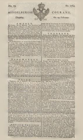 Middelburgsche Courant 1764-02-14