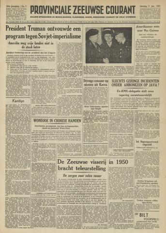 Provinciale Zeeuwse Courant 1951-01-09