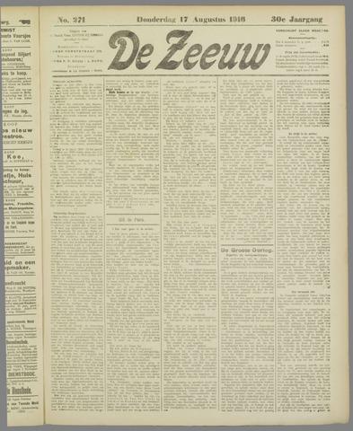 De Zeeuw. Christelijk-historisch nieuwsblad voor Zeeland 1916-08-17