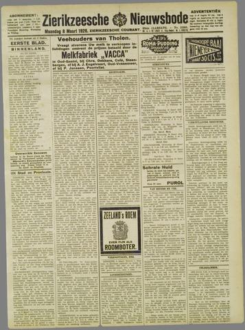 Zierikzeesche Nieuwsbode 1926-03-08
