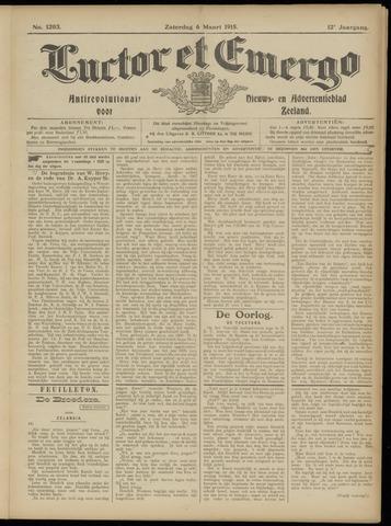 Luctor et Emergo. Antirevolutionair nieuws- en advertentieblad voor Zeeland / Zeeuwsch-Vlaanderen. Orgaan ter verspreiding van de christelijke beginselen in Zeeuwsch-Vlaanderen 1915-03-06