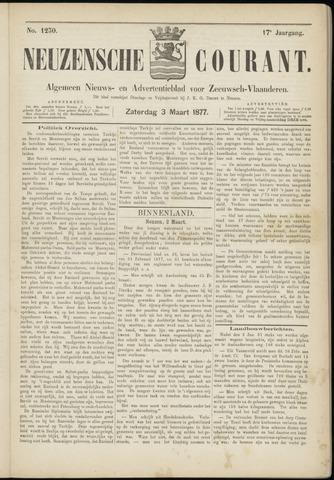 Ter Neuzensche Courant. Algemeen Nieuws- en Advertentieblad voor Zeeuwsch-Vlaanderen / Neuzensche Courant ... (idem) / (Algemeen) nieuws en advertentieblad voor Zeeuwsch-Vlaanderen 1877-03-03