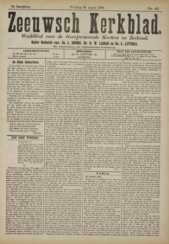 Zeeuwsche kerkbode, weekblad gewijd aan de belangen der gereformeerde kerken/ Zeeuwsch kerkblad 1909-04-30