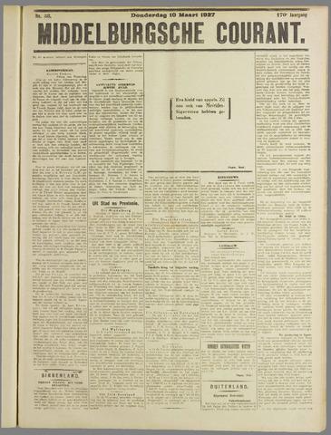 Middelburgsche Courant 1927-03-10
