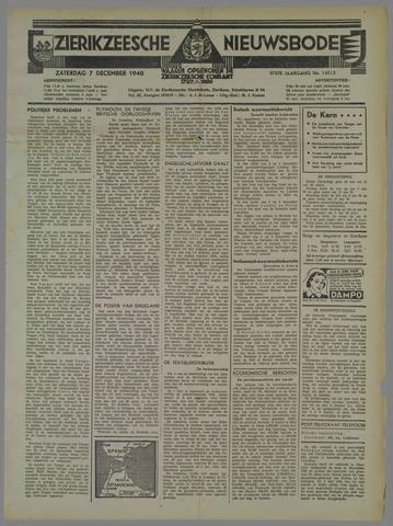 Zierikzeesche Nieuwsbode 1940-12-07