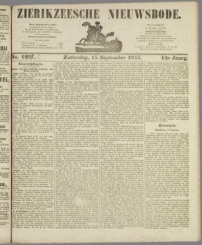 Zierikzeesche Nieuwsbode 1855-09-15