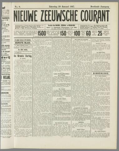 Nieuwe Zeeuwsche Courant 1917-01-20