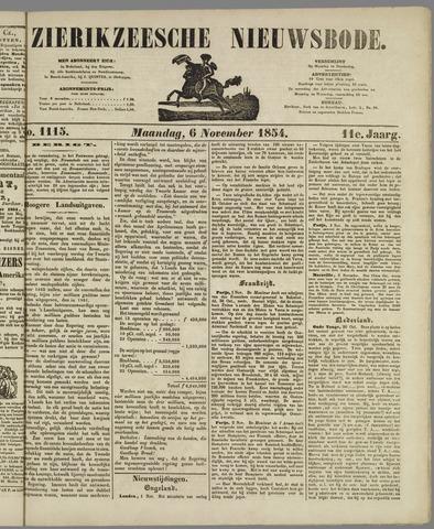 Zierikzeesche Nieuwsbode 1854-11-06