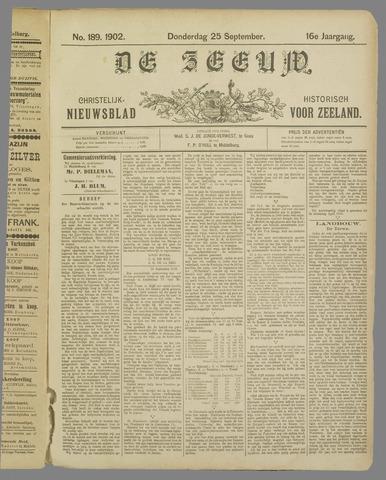 De Zeeuw. Christelijk-historisch nieuwsblad voor Zeeland 1902-09-25
