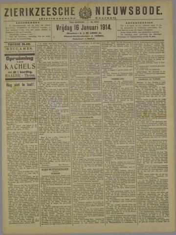 Zierikzeesche Nieuwsbode 1914-01-16