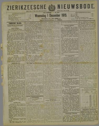 Zierikzeesche Nieuwsbode 1915-12-01