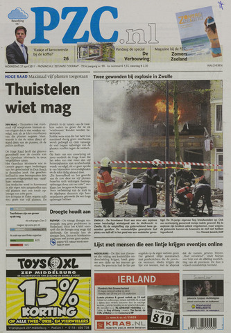 Provinciale Zeeuwse Courant 2011-04-27