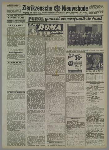 Zierikzeesche Nieuwsbode 1932-04-29