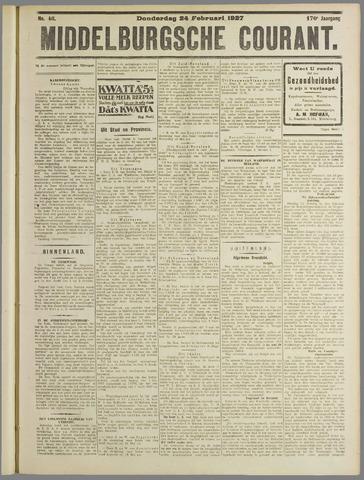 Middelburgsche Courant 1927-02-24