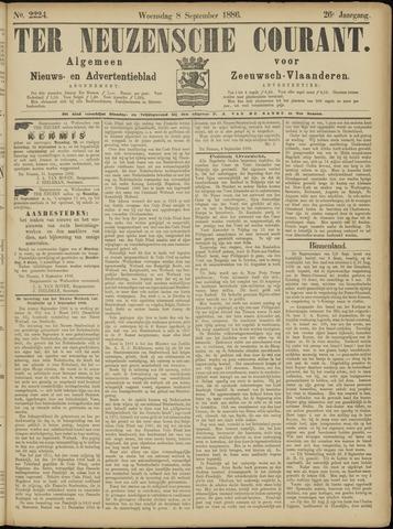 Ter Neuzensche Courant. Algemeen Nieuws- en Advertentieblad voor Zeeuwsch-Vlaanderen / Neuzensche Courant ... (idem) / (Algemeen) nieuws en advertentieblad voor Zeeuwsch-Vlaanderen 1886-09-08