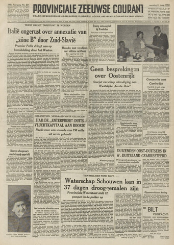 Provinciale Zeeuwse Courant 1953-08-31