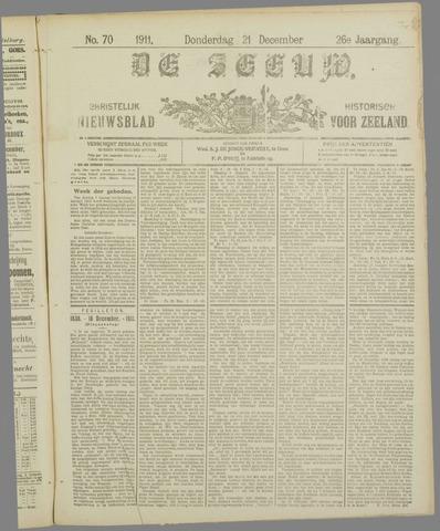 De Zeeuw. Christelijk-historisch nieuwsblad voor Zeeland 1911-12-21