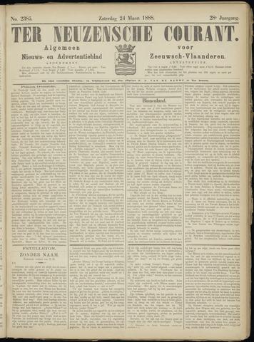Ter Neuzensche Courant. Algemeen Nieuws- en Advertentieblad voor Zeeuwsch-Vlaanderen / Neuzensche Courant ... (idem) / (Algemeen) nieuws en advertentieblad voor Zeeuwsch-Vlaanderen 1888-03-24