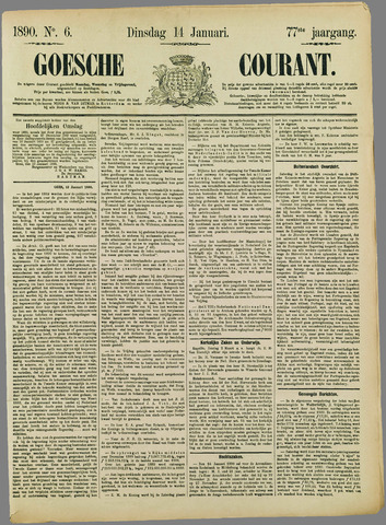 Goessche Courant 1890-01-14