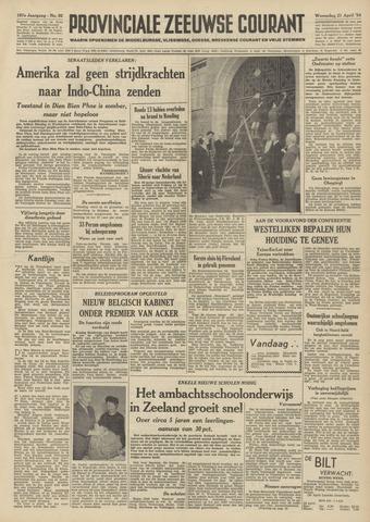 Provinciale Zeeuwse Courant 1954-04-21