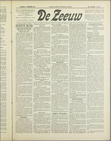 De Zeeuw. Christelijk-historisch nieuwsblad voor Zeeland 1934-12-17
