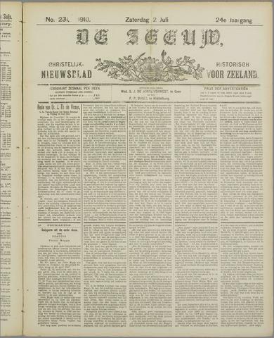 De Zeeuw. Christelijk-historisch nieuwsblad voor Zeeland 1910-07-02