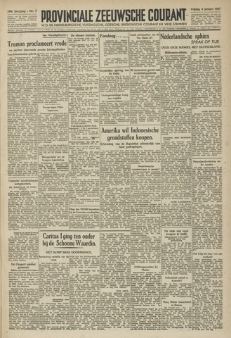 Provinciale Zeeuwse Courant 1947-01-03
