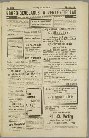 Noord-Bevelands Nieuws- en advertentieblad 1929-01-26