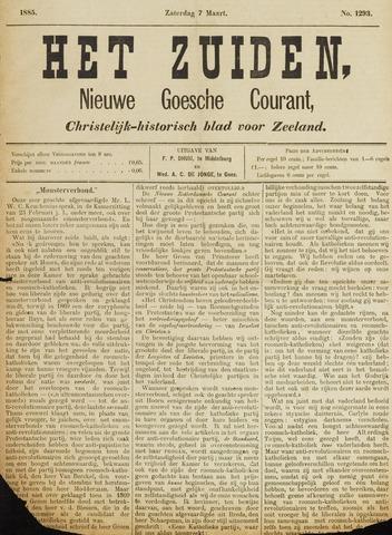 Het Zuiden, Christelijk-historisch blad 1885-03-07
