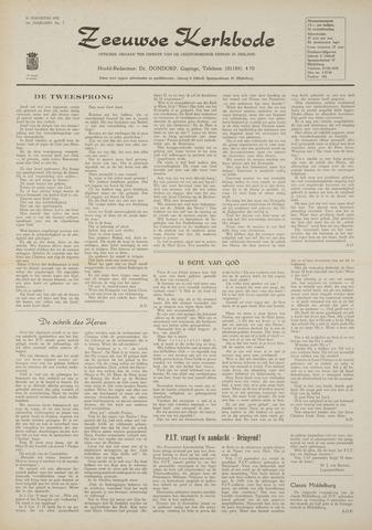 Zeeuwsche kerkbode, weekblad gewijd aan de belangen der gereformeerde kerken/ Zeeuwsch kerkblad 1970-08-20