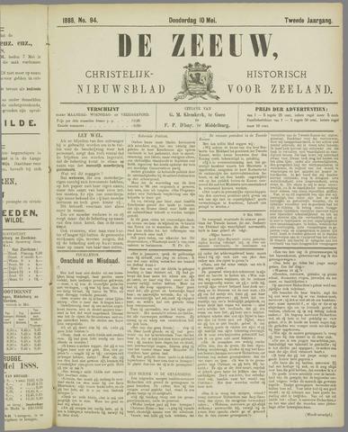 De Zeeuw. Christelijk-historisch nieuwsblad voor Zeeland 1888-05-10